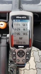 jetzt gibt´s nur noch alle 1111,11km einen...