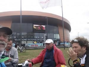 Mäxx, Jan, Uwe(Fahrer des Winnebago) und Christian
