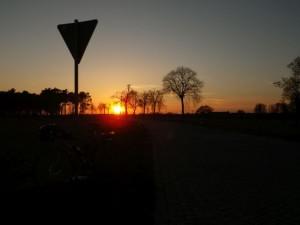 Im Sonnenuntergang