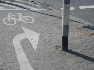 Überleitung auf die Korrekte Seite der Stiftstraße