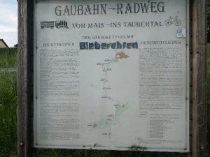 """Anbindung zum Radweg """"Romantische Straße"""" Würzburg - Füssen"""