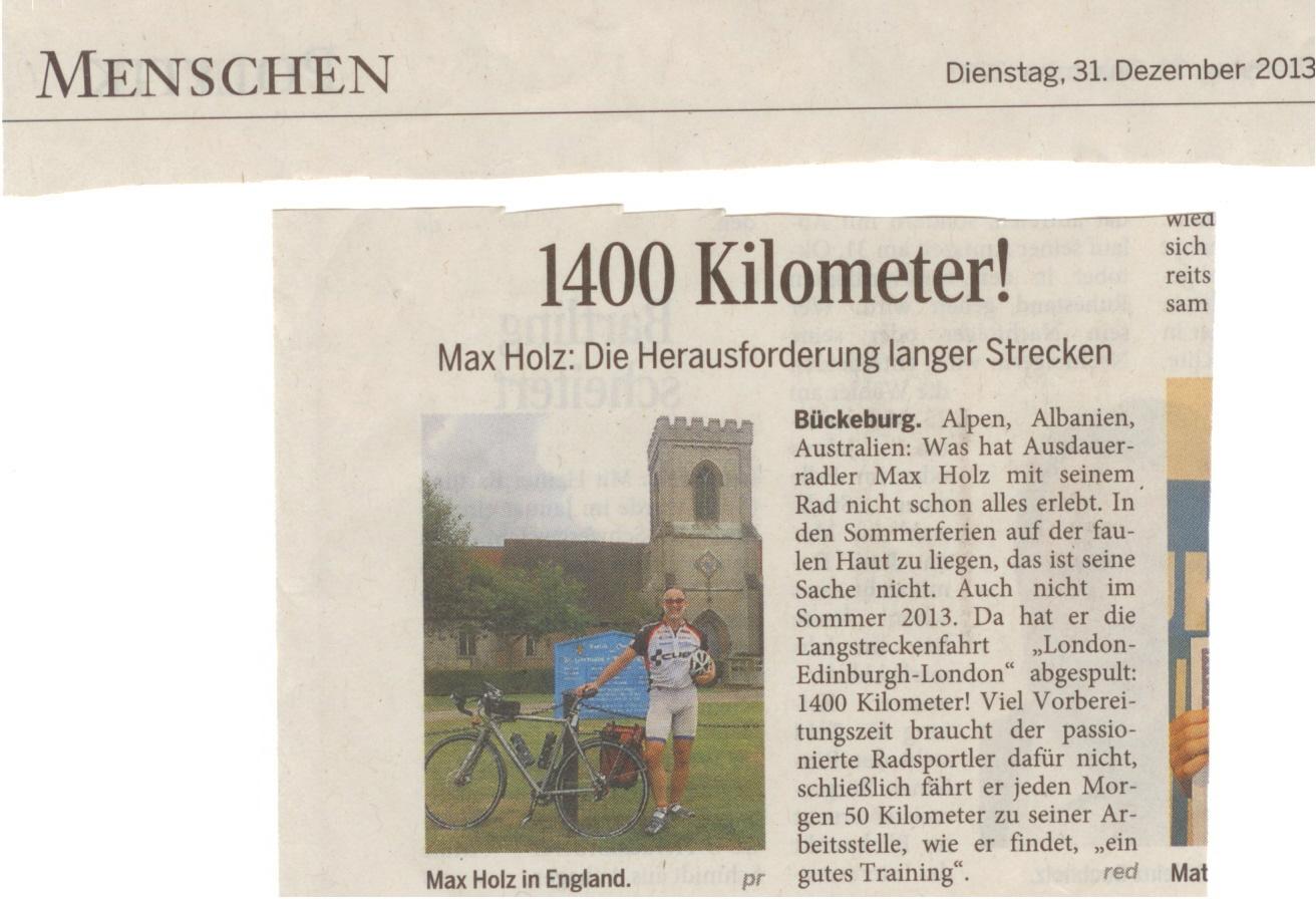 SN, Jahresrückblick 2013